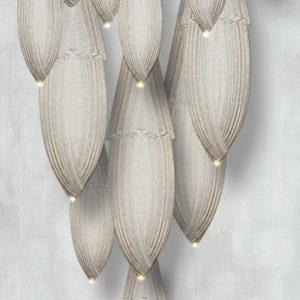 Meystyle Dolomite Chandelier Silver Grey behang