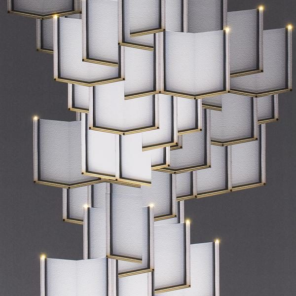 Meystyle Lattice Systems Chandelier behang