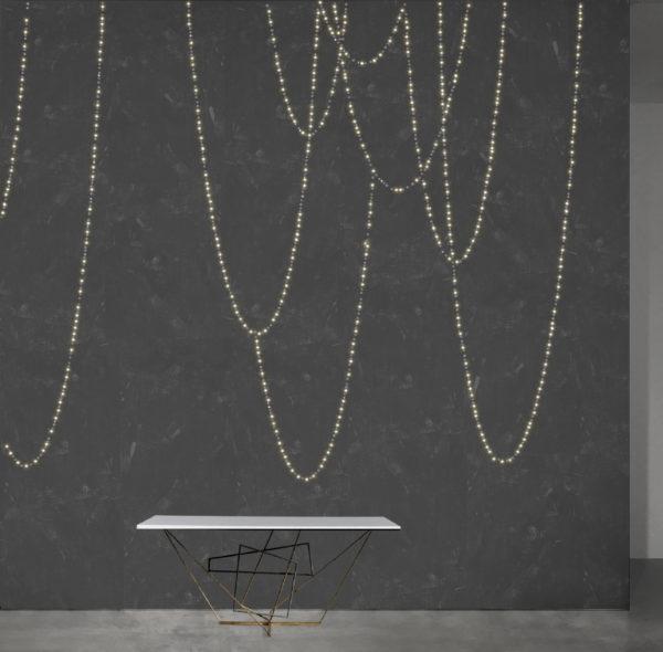 Meystyle Chains Dark Concrete behang