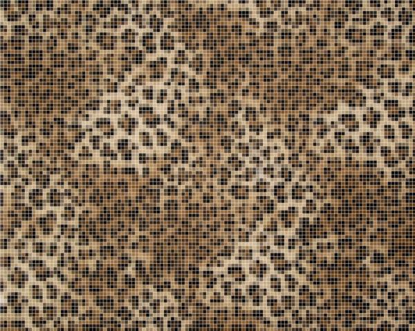 Capiece Mozaïek Wand Snow Leopard