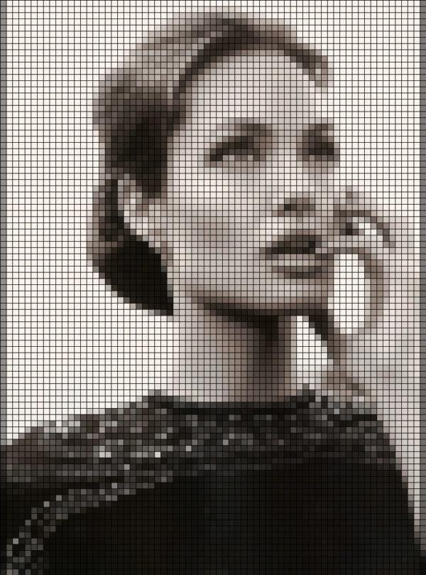 Capiece Mozaïek Wand Angelina Jolie bijt op vinger