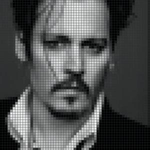 Capiece Mozaïek Wand Johnny Depp