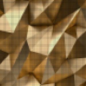 Capiece Mozaïek Wand 3D Gold