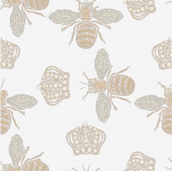 Capiece Mozaïek Wand Queen Bee White